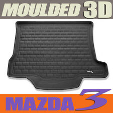 To suit Mazda 3 Sedan 2004 to 2013 Black 3D Rubber Boot Mat