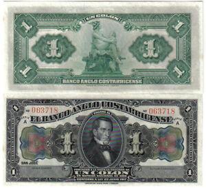 COSTA RICA 1 COLON 1917 PICK S 121 R UNC