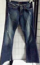 Plastic by Gly Women's 7 Navy Blue Faded Distressed Jeans