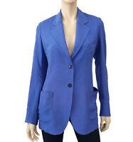 PAUL SMITH BLACK LABEL Women's Marine Blue Silk Blazer Unlined Jacket 40 US 6