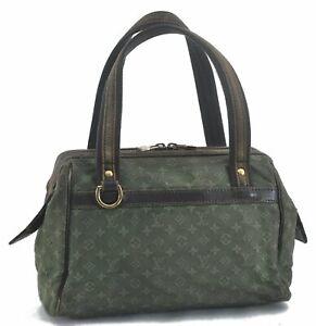 Louis Vuitton Monogram Mini Josephine PM Hand Bag Khaki Green M92415 LV C5641