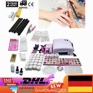 2* SETS DIY Nagelstudio Set UV Gel Nagel Starterset Art Nagelfräser mit Fräser