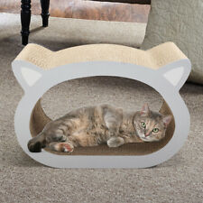 Cat Scratching Cardboard w/Catnip Recycle Corrugated Lounge&Bed Cat-head Design
