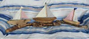 Driftwood Boat Handmade