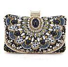 Women's Luxury Crystal Rhinestone Vintage Evening Clutch Bag