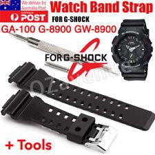 16mm WATCH BAND STRAP FITS CASIO G SHOCK GA-100 G-8900 GW-8900 PINS TOOL gshock