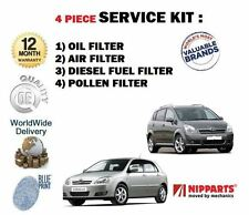 FOR TOYOTA COROLLA + VERSO  2.0DT 2001-> OIL AIR FUEL POLLEN FILTER SERVICE KIT