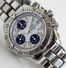 BREITLING Mens Watch, A13035.1, COLT AUTOMATIC Chronograph, White Face, 41mm