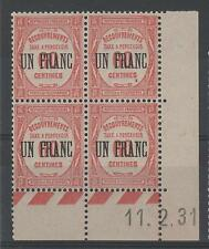 """FRANCE STAMP TIMBRE TAXE N° 63 """" UN FRANC SUR 60c COIN DATE """" NEUF xx SUP K359"""