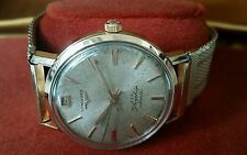 1960 Longines Flagship 18KGP Rose Gold Automatic Men's Watch Great Patina!