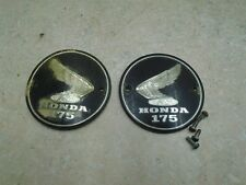 Honda 175 CL SCRAMBLER CL175-K0 Genuine Tank Badges Emblems 1968 HB333 VP