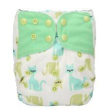 1 Baby Cloth Diaper Nappy Pocket Reusable Washable Microfleece Cats