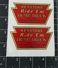 KEYSTONE  RIDE-EM DUMP TRUCK DECALS