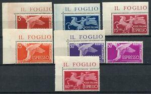 ITALIA 1945-52 ESPRESSI DEMOCRATICA  SERIE COMPLETA  MNH** SASSONE S1806