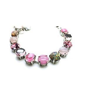 Mariana Bracelet Beautiful Pink,Light Pink Rose & Mix Color Austrian Crystals...