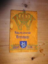 original WW2 homemade plaque Bevrijding. Sittard. Holland. Liberation.