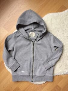 Zara Kids Collection Boys Girls Gray Hoodie Sweatshirt Full Zip Sz 7 122 CM