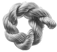 10 Meter Makramee Garn Nylonfäden Kordel 2mm Shamballa Band Silber Grau BEST C72