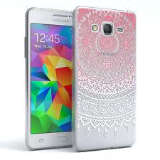 Hülle für Samsung Galaxy Grand Prime Schutz Cover Handy Case Motiv Pink / Weiß