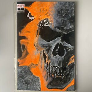 Ghost Rider 1 Original Art Blank Cover By Corey Ross