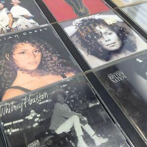 LOT 12 Big Voice Diva CDs Whitney Houston Mariah Carey Janet Jackson Williams En