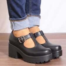 Ladies Black T Bar Block Platform High Heel Sandals Shoes Size UK 3 4 5 6 7 8 Uk6/euro39/aus7/usa8 Koi .