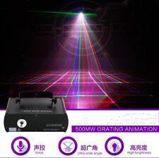 500mW RGB Grating Animation Laser Program DMX Projector DJ Party Stage Lighting