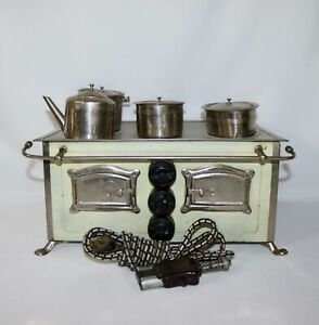 Electric Stove Sanitax Electric Co Childs Toy Salesman Sample Circa 1920 Antique
