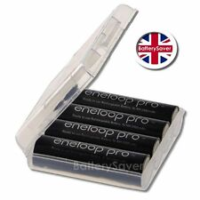 4 x Panasonic eneloop PRO AA batteries **5th Generation BK-3HCDE** - in FREE Box
