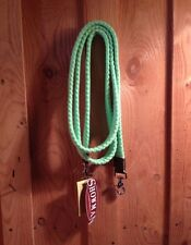 8 ft Lime Cotton Contest Reins with Scissor Snaps NEW HORSE TACK