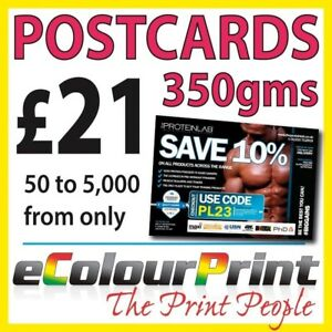 Postcards / Leaflets / Flyers A5, A6, A7 on 350gms Board Printed Full Colour