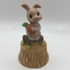 Ardco Porcelain Bell with a Rabbit on a Branch With Carrot
