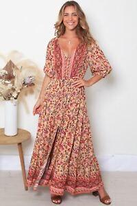Sandra 1/2 Sleeve Maxi Dress