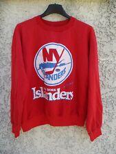 Sweat maillot hockey NHL NEW YORK ISLANDERS vintage années 80 rare shirt jersey