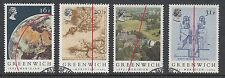 GB Stamps 1984, Centenary of the Greenwich Meridian, set 4 VFU from FDC