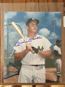 Mickey Mantle autographed 8x10 photo with COA