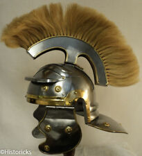 SALE  Roman Centurion Helmet (thick natural horse hair PLM)  FREE HELMET STAND