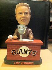 San Francisco Giants Lon Simmons Special Bobblehead bobble talking NIB RARE MINT