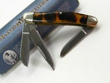 Rough Rider Tortoise Small Tiny Stockman 3 Blade Folding Pocket Knife RR812