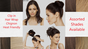Dancing with the Stars Glamarama Clip-In Comb Styleable Hair Wrap Chignon Bun