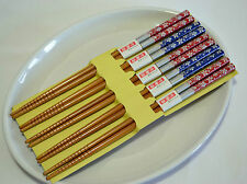 AU Japanese Classic Handmade Natural Bamboo Chopsticks Gift 5 Pair Deluxe Kit 04