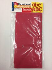 Flannelboard Alphabet Cutouts 104 Felt Red Letters (NEW)