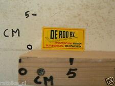 STICKER,DECAL DE ROO BV WEGENBOUW EMMEN