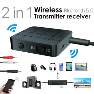 2in1 Bluetooth 5.0 Wireless Audio Transmitter Receiver HIFI MP3 Adapter RCA AUX