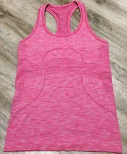 Lululemon Size 6 Swiftly Tech Run Racerback HEATHERED PINK PARADISE Tank Shirt