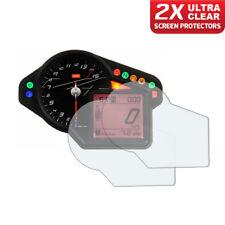 2 x Aprilia RSV1000R RSVR Factory Dashboard Screen Protectors: Ultra-Clear