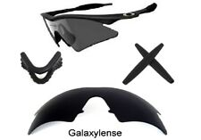 Galaxy Replacement Lenses + Rubber Kits For Oakley M Frame Heater Black Color