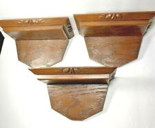 Vintage Resin Wooden Look Acorn Wall Shelves Knick Knack Shelf Cabin Rustic