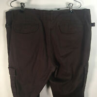 Michael Kors Women's Size 14 Cargo Pants Tapered Leg Cotton Blend Brown W 38x30L