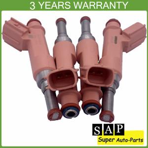 Set of 4 Fuel Injectors 23250-0T050 For Scion 2RZ-FE Toyota Corolla 23209-0T050